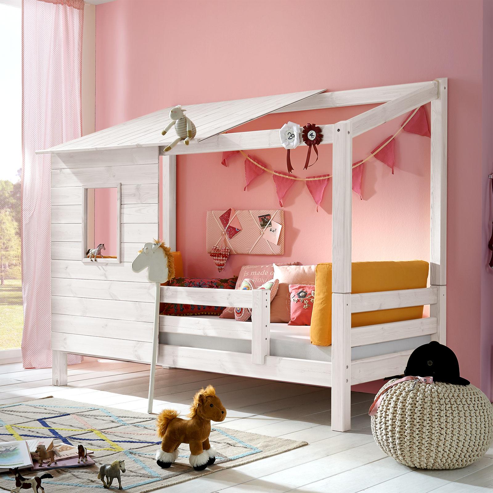 abenteuerbett aus massivholz f r m dchen kids paradise. Black Bedroom Furniture Sets. Home Design Ideas
