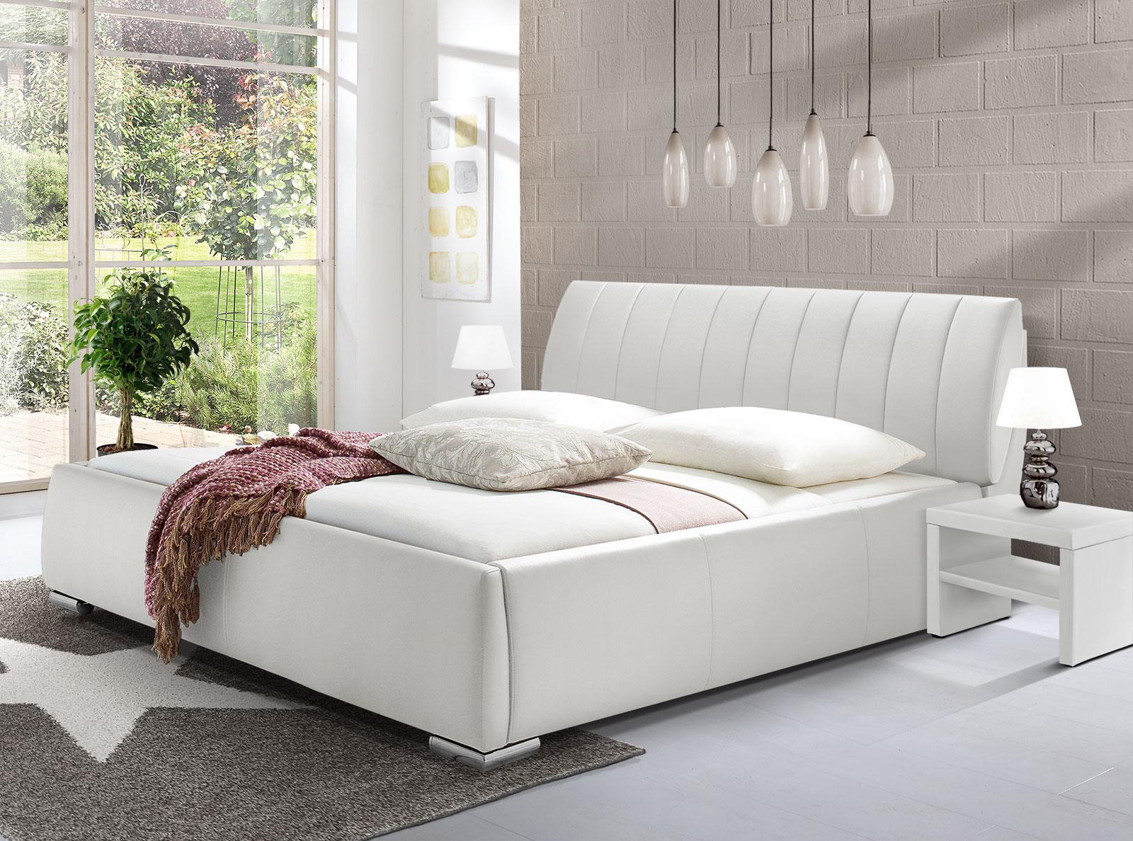 kunstlederbett mit bettkasten und lattenrost lewdown. Black Bedroom Furniture Sets. Home Design Ideas