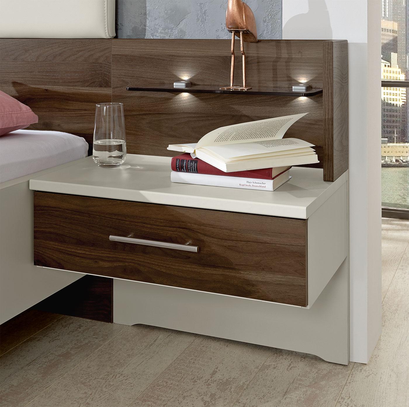Nachttisch Mit Beleuchtung günstiges designerbett inklusive 2 schubladen nachttische moa