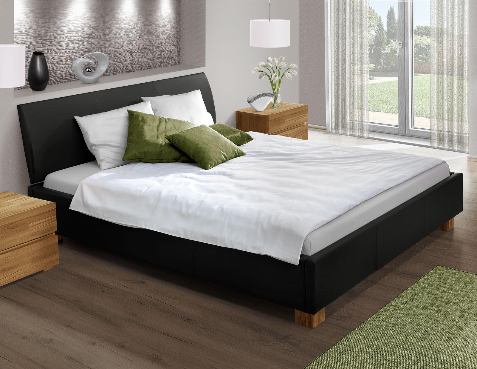 Bett Mit Echtleder Z B In Schwarz 180x200 Cm Serpa