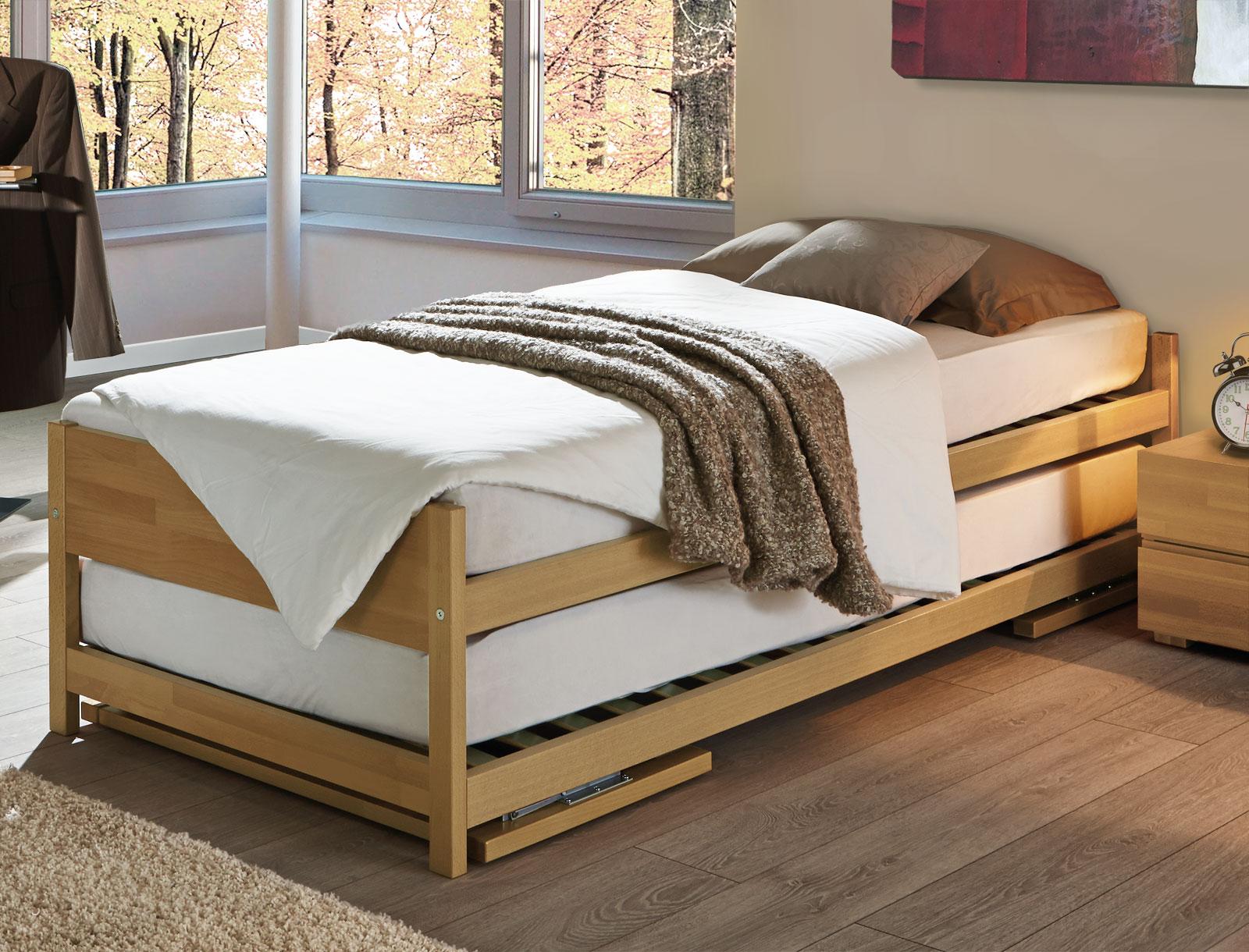 zwei betten gleicher gr e unser ausziehbett on top. Black Bedroom Furniture Sets. Home Design Ideas