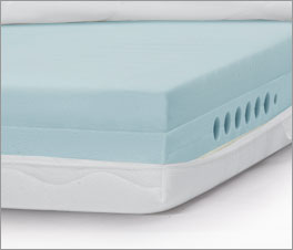 Kern der Kaltschaummatratze youSleep 700 mit Bohrungen und Wellenschnitt