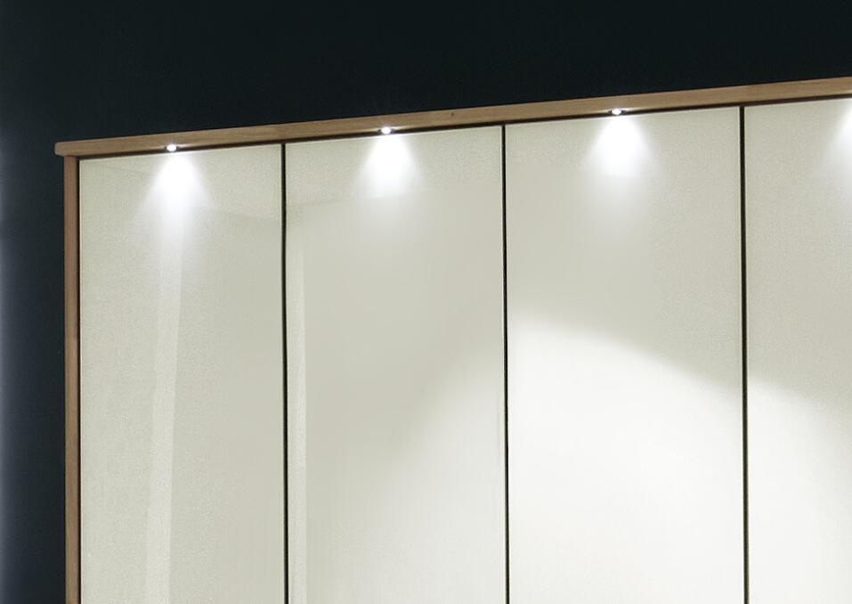 Falttüren-Kleiderschrank mit Schubladen - Dartford Magnolie