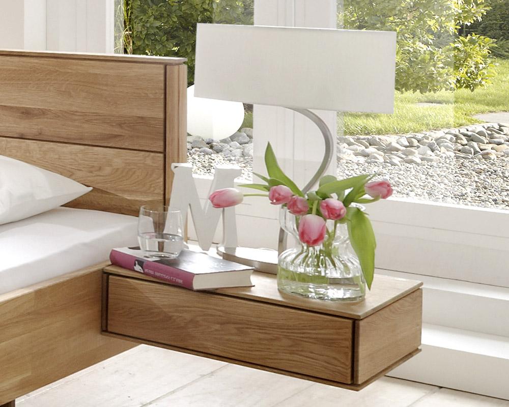 Wand Nachttisch nachttisch mit schublade aus massivholz rosso betten at