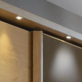 Schwebet?ren-Kleiderschrank Quebo mit LED Beleuchtung