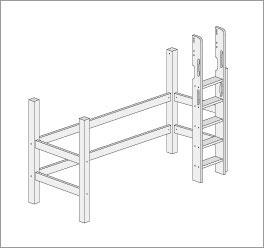 Grafik f?r den Umbau mit gerader Leiter