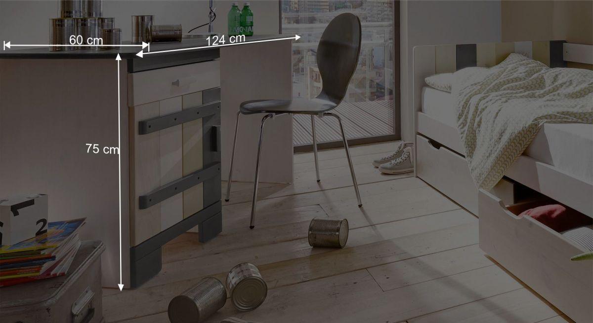 Schreibtisch Laubhüttes Bemaßungsgrafik
