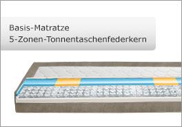 5 Zonen Basis-Matratze
