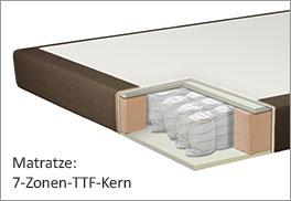 7-Zonen-Tonnentaschenfederkern