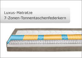 7-Zonen Luxus-Matratze mit Tonnentaschenfederkern