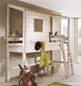 Umbaubares Abenteuer-Hochbett Kids Paradise aus Holz in Weiß