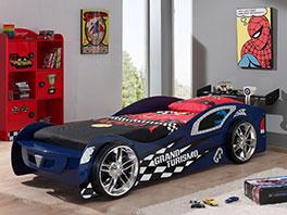 Autobett Hero blau mit erhöhten Seiten