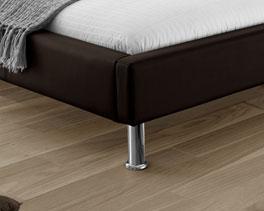 Bett Basildon mit runden Beinen aus Metall