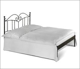 Bett Vella aus Massiveisen ohne Fußteil