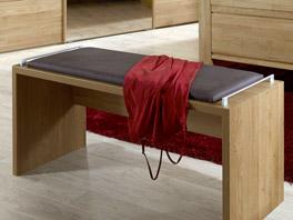 Moderne Bettbank Quebo aus Eiche Dekor