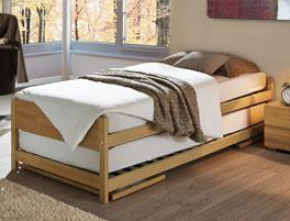 Buchebett On Top ist als Einzelbett und Gästebett verwendbar