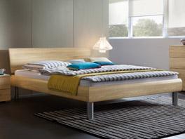 Designerbett Enna in verschiedenen  Betthöhen und auch in 160x200cm erhältlich