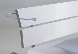 Das Kopfteil von Designerbett Belluno aus Dekor-MDF