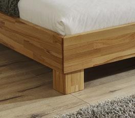 Doppelbett Lesina mit stabilem Fussteil