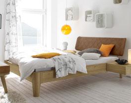 Doppelbett Weno mit stabilem Massivholzrahmen
