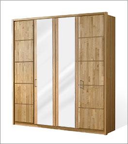 Drehtüren-Kleiderschrank Beyla mit zwei Spiegeltüren