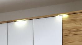 Drehtueren-Kleiderschrank Divari mit beleuchtetem Kranz
