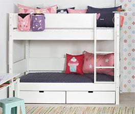 Modernes Etagenbett Kids Town in Weiß