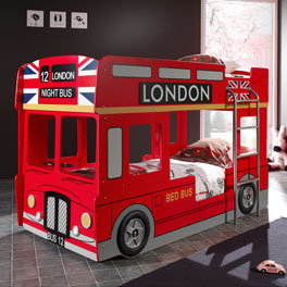 Etagenbett Paddington mit Londoner Bus Optik