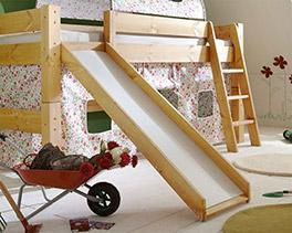Himmel-Hochbett Kids Dreams in natur lackiert