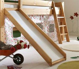 Kids Dreams Mini-Rutschen-Hochbett mit Rutsche und Leiter