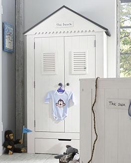 Kinder-Kleiderschrank Coastline mit liebevollen Details