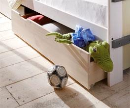 Kinderbett Kids Paradise Laubhütte mit Schubkästen für Stauraum