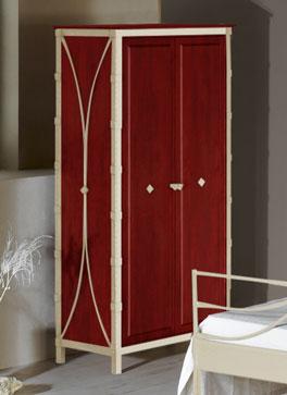 Massiver Kleiderschrank Arica mit 2 Türen