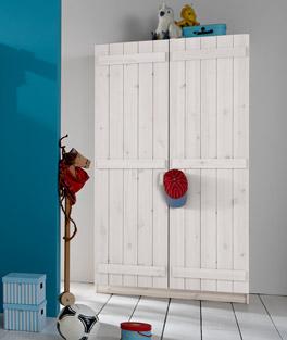 Kleiderschrank Kids Paradise mit zwei Türen und höhenverstellbaren Einlegeböden