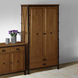 Kleiderschrank Sinja inklusive 2 breite Schubladen