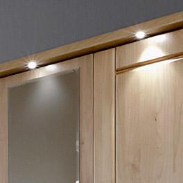 Kleiderschrank Trikomo mit LED-Beleuchtung inklusive Fußschalter