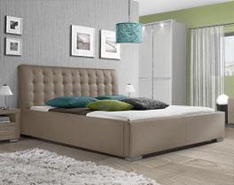 Stabiles Kunstlederbett Baskerville Comfort