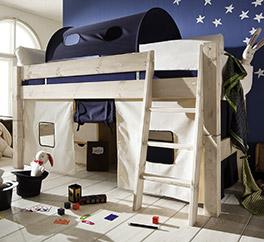 Kiefernbett aus Massivholz Kids Dreams weiß