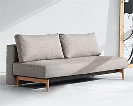 Schlichtes Design-Schlafosfa Hilltown in Grau