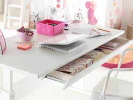 Höhenverstellbarer Schreibtisch von Lifetime mit Schublade