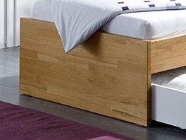 Fußteil vom Schubkasten-Bett Leova aus Echtholz