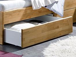 Schubkasten-Bett Leova mit großen Schubladen