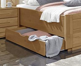 Schubkasten-Doppelbett Narita mit praktischem Stauraum