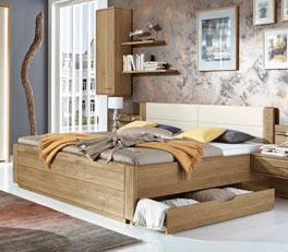 Modernes Schubkasten-Doppelbett Toride inklusive Kopfteil