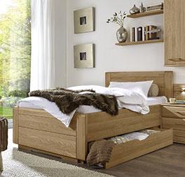 Schubkasten Einzelbett Raida in Komfort-Liegehöhe