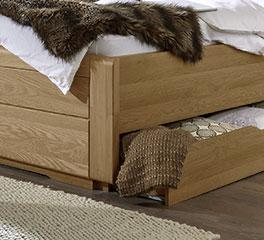 Schubkasten-Einzelbett Raida mit praktischem Stauraum