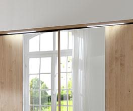 Moderner Schwebetüren-Kleiderschrank Ageo mit Beleuchtung