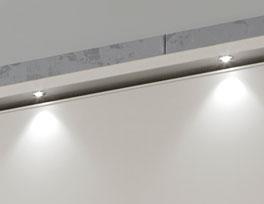 Schwebetüren-Kleiderschrank Baria wahlweise mit LED-Stollenbeleuchtung