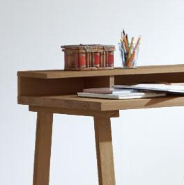 Sekretär Arezzino aus Holz mit offenem Ablagefach