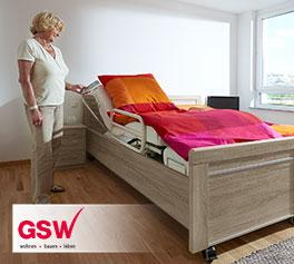 Seniorenbett Runcorn der GSW mit verstellbarem Lattenrost